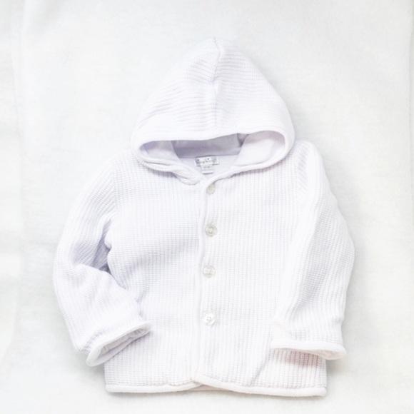 Kissy Kissy Kids Rib Knit Button Up Hooded Jacket